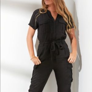 Velvet Heart black Tencel jumpsuit-Sz S